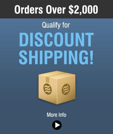 Discount shipping for orders over $2000